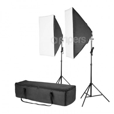 Dvojitý set trvalých světel FreePower 2400W with softbox 60x90 and bag