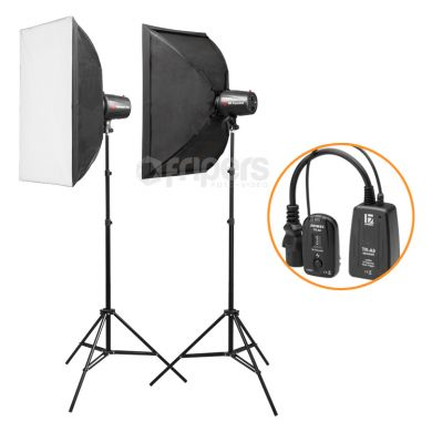 Flash Lamp Kit Jinbei Delicacy DUO II with softboxes
