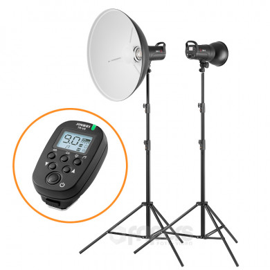 Flash lighting kit PROPOWER PORTRAIT with Jinbei DM series lamp