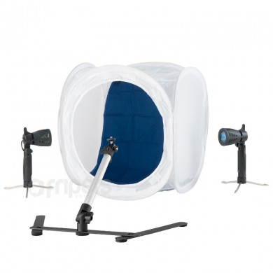 Light tent kit FreePower 2 x 50W light tent, lamps, stand