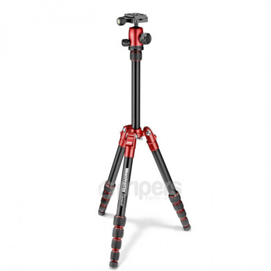 Photo Tripod Manfrotto Element Traveller Small red, with ball head